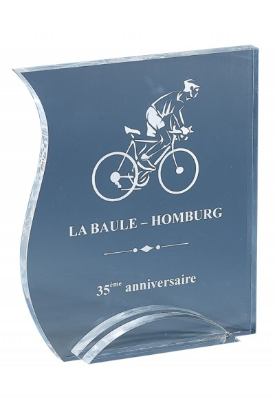 Trophée Acryglass Laserable 175-01